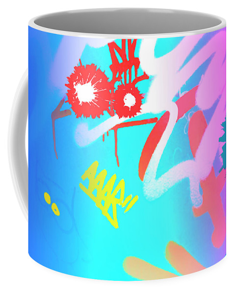 Graffiti Coffee Mug featuring the painting Where Is The Cat by Beli
