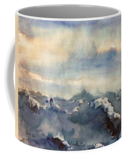 Seascape Coffee Mug featuring the painting Where Sky Meets Ocean by Steve Karol