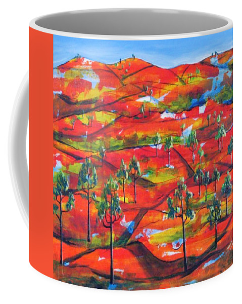 Landscape Coffee Mug featuring the painting Where The Road Goes   by Rollin Kocsis