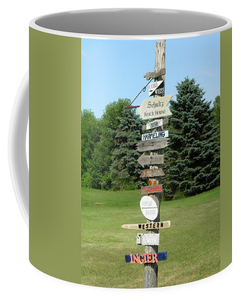 Direction Coffee Mug featuring the photograph Which Way Do I Go by Diane Greco-Lesser