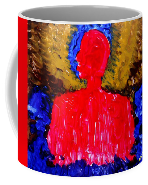 Which Way To World Peace For Humanity Coffee Mug featuring the painting Which Way To World Peace For Humanity by Mbonu Emerem