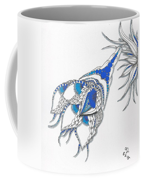 Relentless Coffee Mug featuring the drawing Whimsy by Darla Richardson