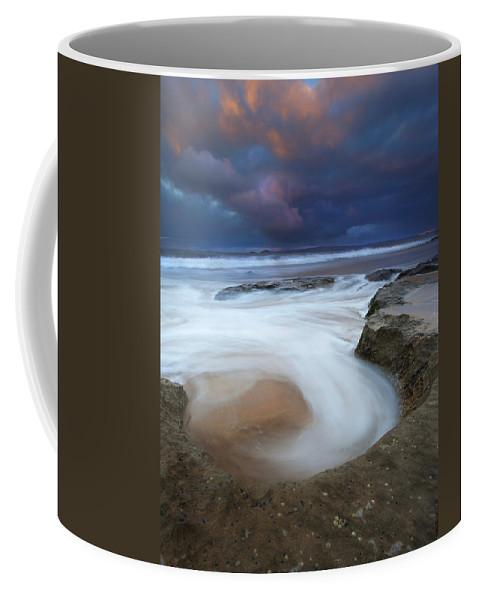 Knight's Beach Coffee Mug featuring the photograph Whirlpool Dawn by Mike Dawson