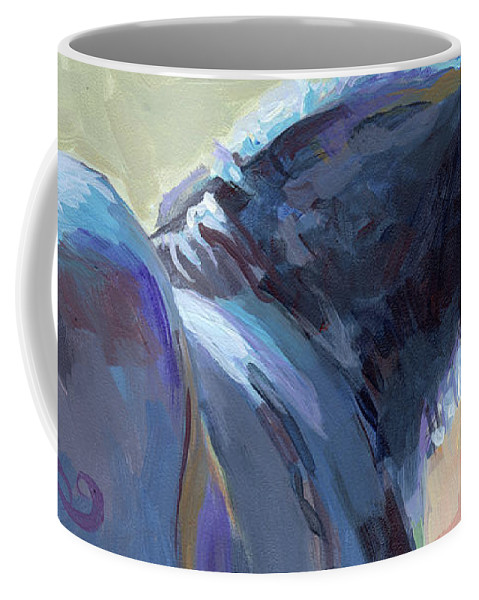 Clydesdale Coffee Mug featuring the painting Whiskery Clyde by Kimberly Santini