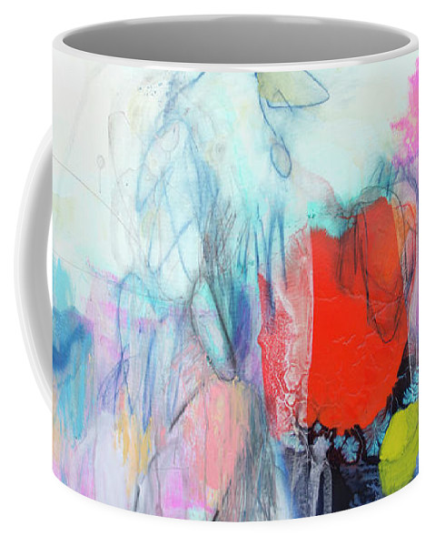 Abstract Coffee Mug featuring the painting Whisper by Claire Desjardins
