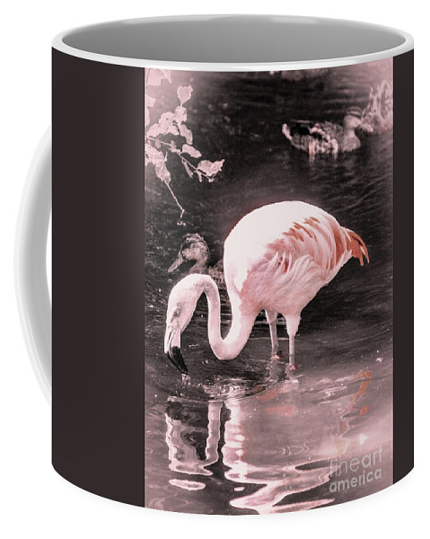 Flamingo Coffee Mug featuring the photograph Whisper Pink Flamingo by Lisa Kilby
