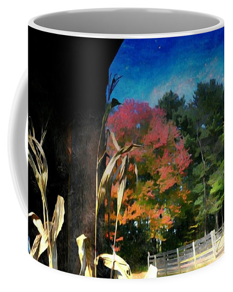 Farm Coffee Mug featuring the photograph Whispering Pines Farm 2 by Shelley Smith