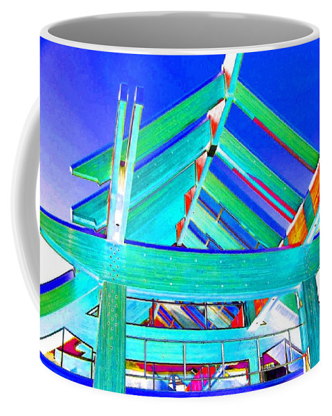 Whistler Conference Centre Coffee Mug featuring the digital art Whistler Conference Centre by Will Borden