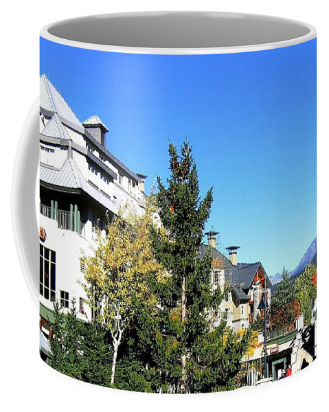 2010 Olympics Coffee Mug featuring the photograph Whistler Village by Will Borden
