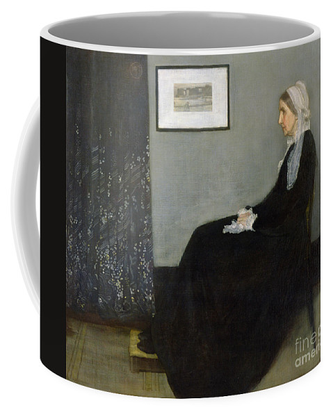 Arrangement Coffee Mug featuring the painting Whistlers Mother by James Abbott McNeill Whistler