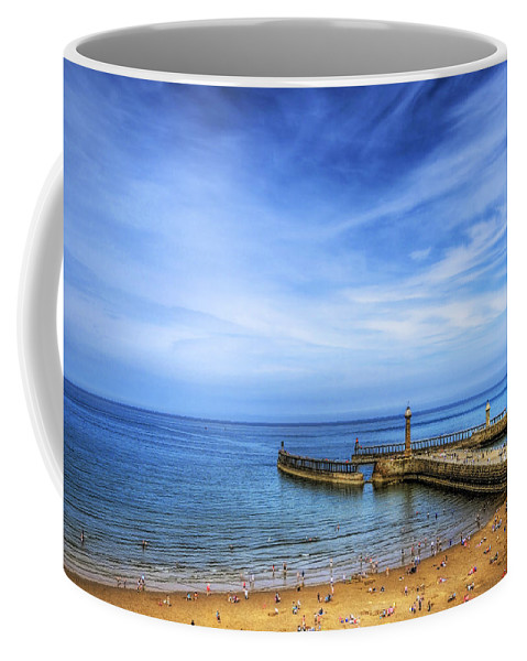 Boat Coffee Mug featuring the photograph Whitby Beach by Svetlana Sewell
