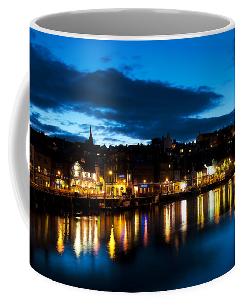 Aqua Coffee Mug featuring the photograph Whitby Eve by Svetlana Sewell