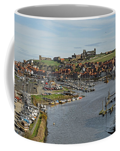 Britain Coffee Mug featuring the photograph Whitby Marina And The River Esk by Rod Johnson