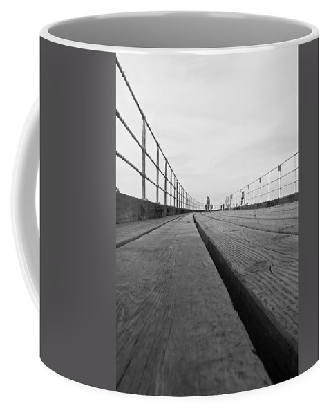 Whitby Pier Coffee Mug featuring the photograph Whitby Pier by Svetlana Sewell