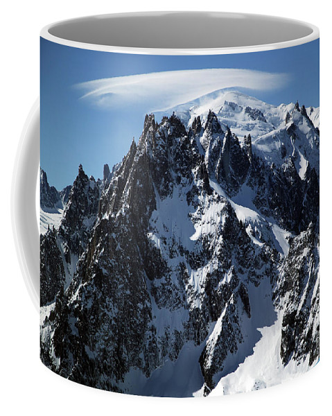 Summit Coffee Mug featuring the photograph White Cap by John Gaffen