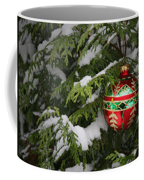 Christmas Coffee Mug featuring the photograph White Christmas by Winston Rockwell