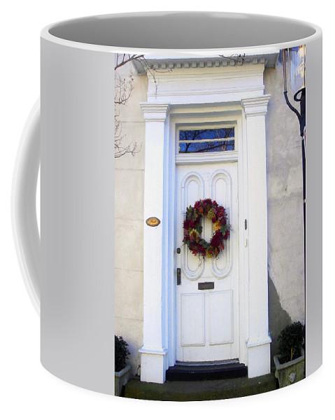 House Doors In Charleston Coffee Mug featuring the photograph White Door In Charleston Sc by Susanne Van Hulst