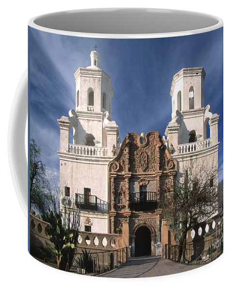 Southwest Coffee Mug featuring the photograph White Dove Of The Desert by Sandra Bronstein