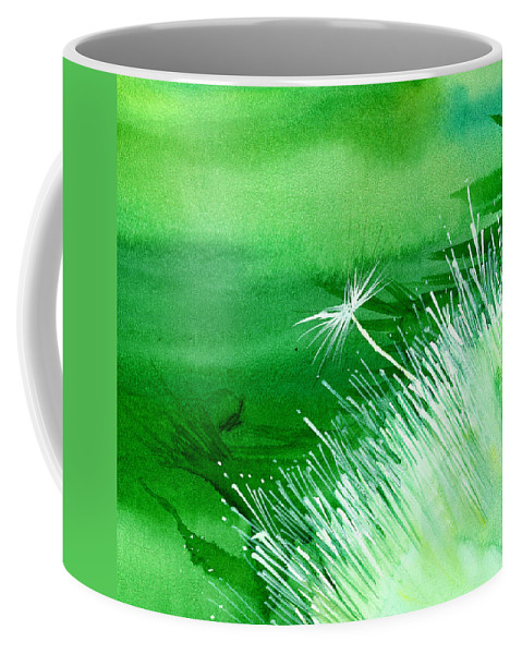 Flowers Coffee Mug featuring the painting White Flower by Anil Nene