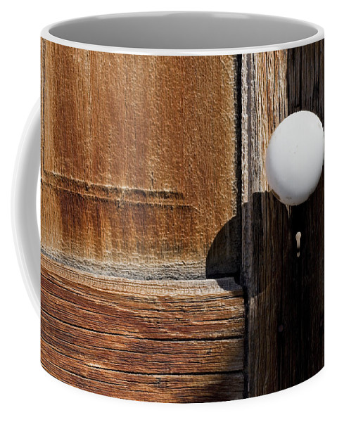 White Door Knob Coffee Mug featuring the photograph White Knob by Kelley King