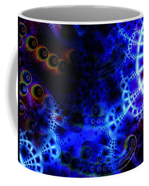 Fantasy Coffee Mug featuring the digital art White Lace And Promises by Claire Bull