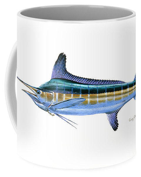 White Marlin Coffee Mug featuring the painting White Marlin by Carey Chen