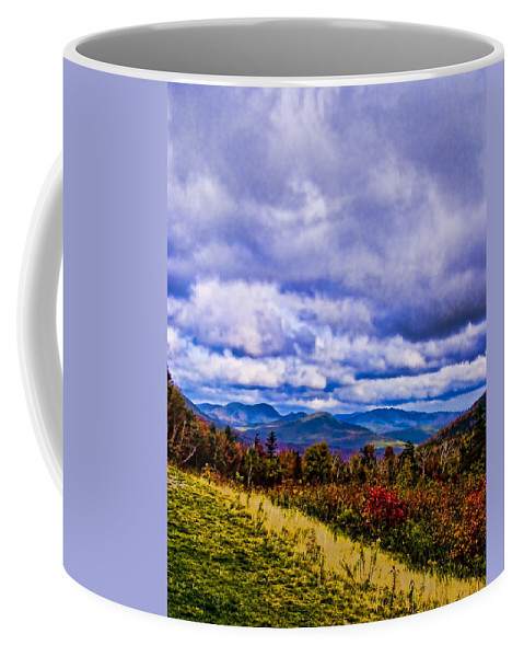Mountains Coffee Mug featuring the digital art White Mountains by Ches Black