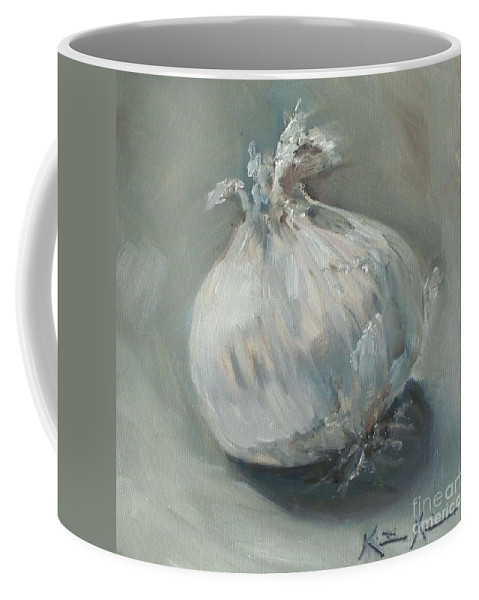 Onion Coffee Mug featuring the painting White Onion No. 1 by Kristine Kainer