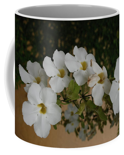 Macro Coffee Mug featuring the photograph White Orchids by Rob Hans