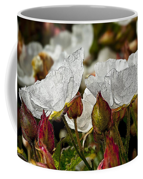 White Flowers Coffee Mug featuring the photograph White Paper Petals by Kelley King