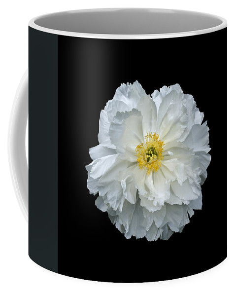 Peonies Coffee Mug featuring the photograph White Peony by Charles Harden