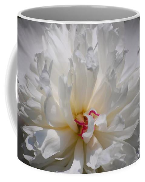 Digital Photography Coffee Mug featuring the photograph White Peony by David Lane