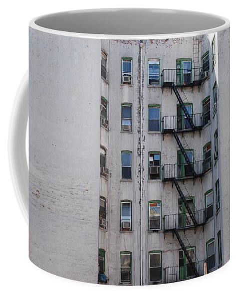Street Scene Coffee Mug featuring the photograph White by Rob Hans