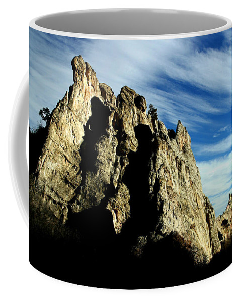 Garden Of The Gods Coffee Mug featuring the photograph White Rocks by Anthony Jones