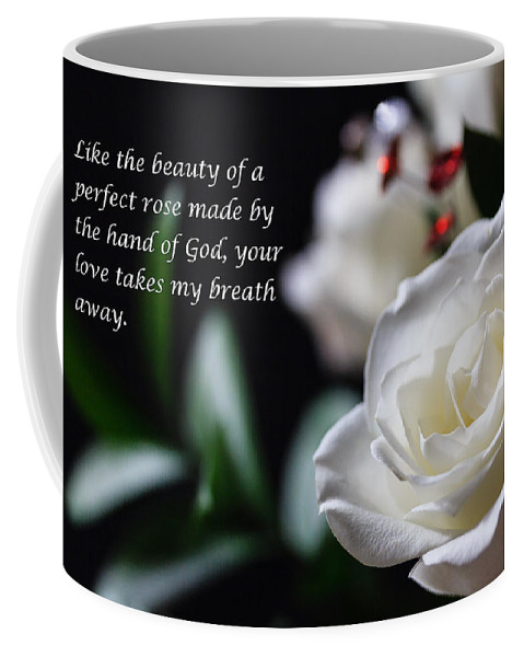 Flowers Coffee Mug featuring the photograph White Rose Expressions Of Love by Joni Eskridge