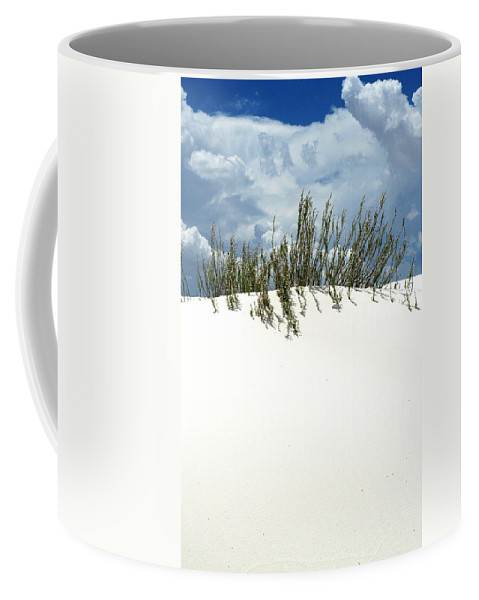 Sand Coffee Mug featuring the photograph White Sand Green Grass Blue Sky by Joe Kozlowski