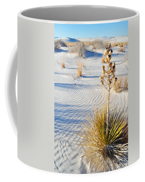 White Sands National Monument Coffee Mug featuring the photograph White Sands New Mexico by Kyle Hanson