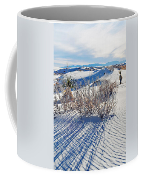 White Sands National Monument Coffee Mug featuring the photograph White Sands Shadows by Kyle Hanson