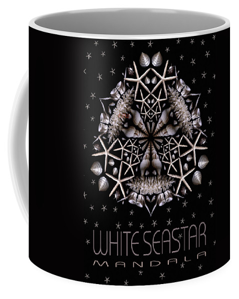Mandala Coffee Mug featuring the photograph White Seastar by Nancy Griswold