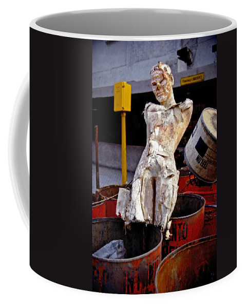 Trash Coffee Mug featuring the photograph White Trash by Skip Hunt
