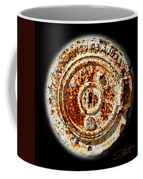 Manhole Coffee Mug featuring the photograph White Water by Charles Stuart