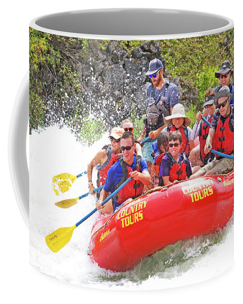 Whitewater; Rapids; Whitewater Rafters; Rafters; Summer Fun; Summer Recreation; Deschutes River; Central Oregon; Oregon Coffee Mug featuring the photograph July In Oregon, White Water Rafting by Buddy Mays