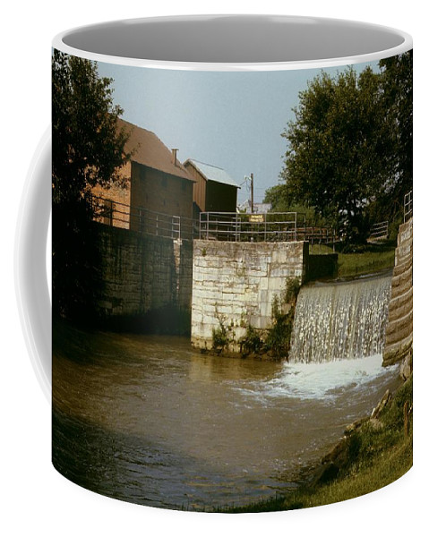 Indiana Coffee Mug featuring the photograph Whitewater Canal Locks Metamora Indiana by Gary Wonning