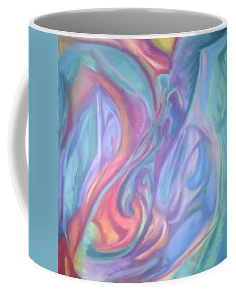 Coffee Mug featuring the pastel Whitout Titel by Sitara Bruns