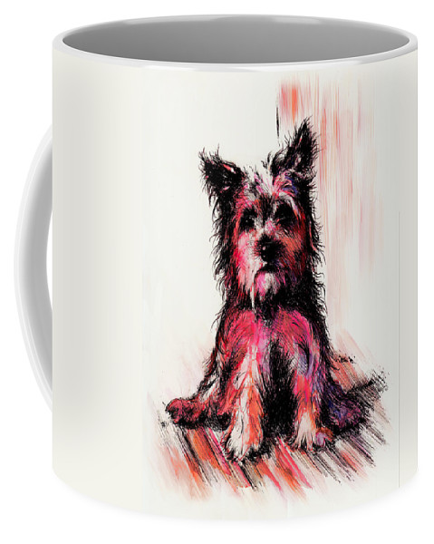 Animal Coffee Mug featuring the drawing who am I by William Russell Nowicki