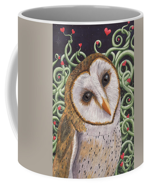 Owl Coffee Mug featuring the painting Who do you love ? by Catherine G McElroy