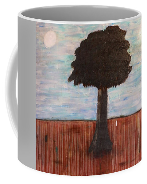 Trees Coffee Mug featuring the painting Who Me? by Mario MJ Perron