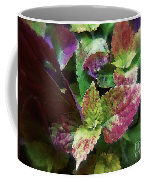 Coleus Coffee Mug featuring the painting Who Needs Flowers by RC DeWinter