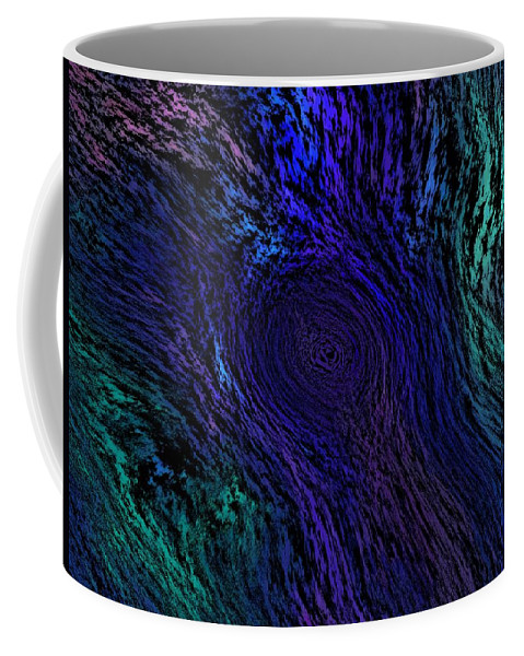 Abstract Digital Painting Coffee Mug featuring the digital art Whoof by David Lane
