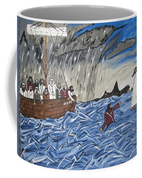 Water Coffee Mug featuring the painting Why Did You Doubt Me by Jeffrey Koss